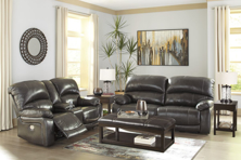 Picture of Hallstrung Gray Leather 2-Piece Living Room Set