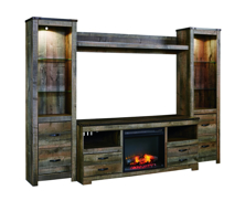 Picture of Trinell 5-Piece Entertainment Wall unit