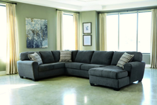 Picture of Sorenton Slate Right Arm Facing Sectional
