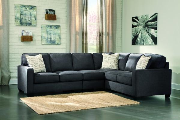 Amazing Alenya Charcoal 3 Piece Right Arm Facing Sectional Creativecarmelina Interior Chair Design Creativecarmelinacom