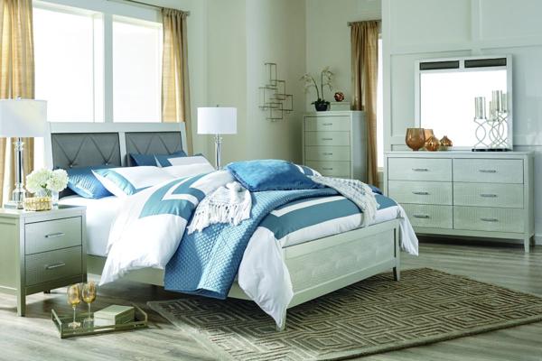 Olivet 6 Piece Queen Panel Bedroom Set