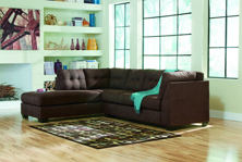 Picture of Maier Walnut 2 Piece Left Arm Facing Sectional
