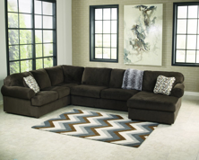 Picture of Jessa Place Chocolate Right Arm Facing Sectional
