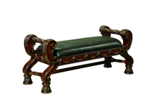 Picture of North Shore Leather Upholstered Bench