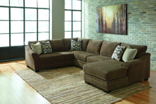 Picture of Justyna Teak Right Arm Facing Sectional