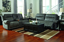 Picture of Austere Gray 2-Piece Power Reclining Living Room Set