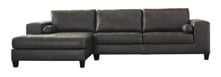Picture of Nokomis Charcoal 2 Piece Left Arm Facing Sectional