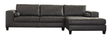 Picture of Nokomis Charcoal 2 Piece Right Arm Facing Sectional
