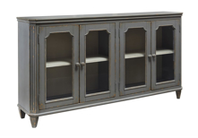 "Picture of Mirimyn 68"" Antique Gray Door Accent Cabinet"