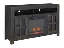 Picture of Gavelston Large TV Stand with Fireplace