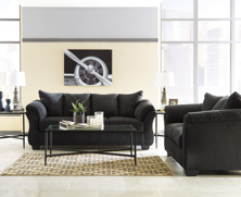 Picture of Darcy Black 2-Piece Living Room Set