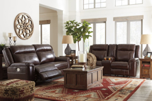 Picture of Wyline Coffee 2-Piece Leather Power Reclining Living Room Set