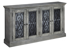 Picture of Mirimyn Antique Gray Door Accent Cabinet
