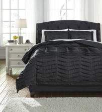 Picture of Voltos Charcoal Queen Duvet Cover Set