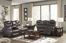 Picture of Warnerton Chocolate  2-Piece Power Reclining Living Room Set