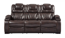 Picture of Warnerton Chocolate Power Reclining Sofa With Adjustable Headrest