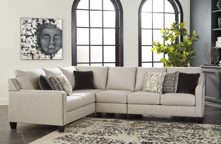 Picture of Hallenberg Fog 3-Piece Left Arm Facing Sectional