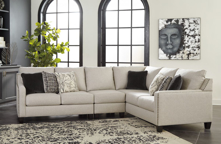 Picture of Hallenberg Fog 3-Piece Right Arm Facing Sectional