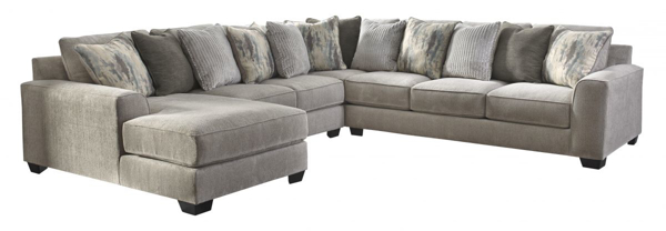 Picture of Ardsley Pewter 4-Piece Left Arm Facing Sectional