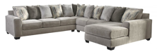 Picture of Ardsley Pewter 4-Piece Right Arm Facing Sectional