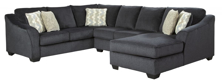 Picture of Eltmann Slate 3-Piece Right Arm Facing Sectional