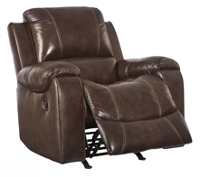 Picture of Rackingburg Mahogany Leather Rocker Recliner