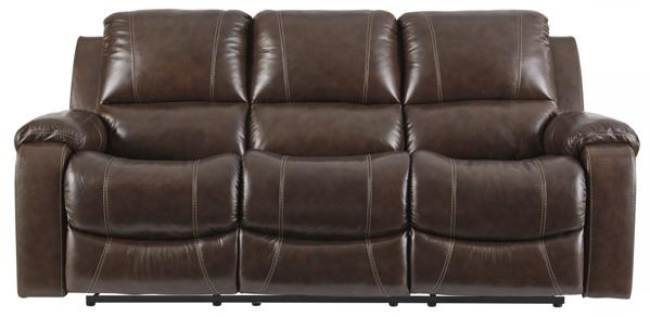 Rackingburg Mahogany Leather Power Reclining Sofa