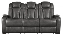Picture of Turbulance Quarry Power Reclining Sofa With Adjustable Headrest