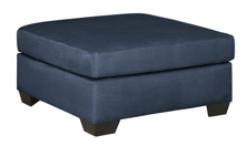 Picture of Darcy Blue Accent Ottoman