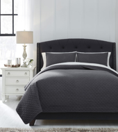 Picture of Ryter Charcoal Queen Coverlet Set