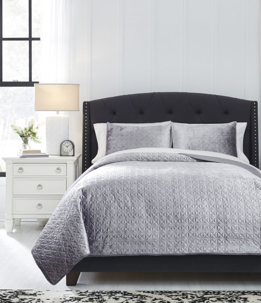 Picture of Maryam Gray Queen Coverlet Set