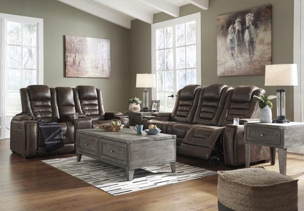 Game Zone Bark 2-Piece Power Reclining Living Room Set