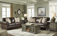 Picture of Roleson Walnut Leather 2-Piece Living Room Set