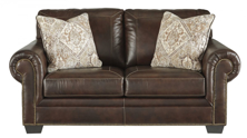 Picture of Roleson Walnut Leather Loveseat