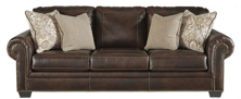 Picture of Roleson Walnut Leather Sofa