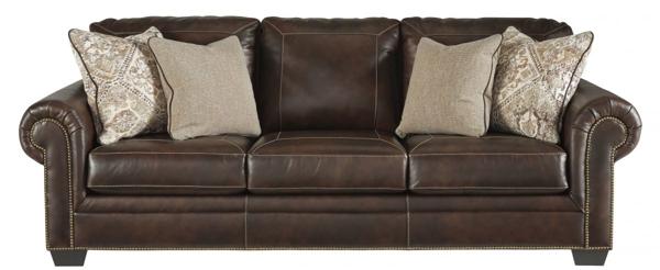 Roleson Walnut Leather Sofa