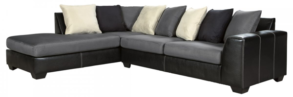 Picture of Jacurso Charcoal 2-Piece Left Arm Facing Sectional