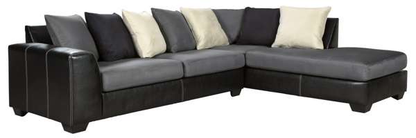 Picture of Jacurso Charcoal 2-Piece Right Arm Facing Sectional