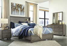 Picture of Arnett 6-Piece King Bookcase Bedroom Set