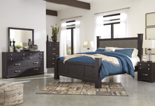 Picture of Reylow Queen 6-Piece Poster Bedroom Set
