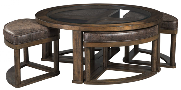 Picture of Hannery Cocktail Table with 4 Stools