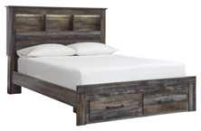Picture of Drystan Queen Bookcase Storage Bed