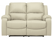 Picture of Rackingburg Cream Leather Power Reclining Loveseat