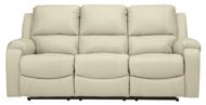 Picture of Rackingburg Cream Leather Power Reclining Sofa