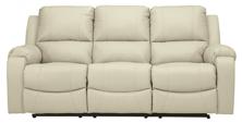 Picture of Rackingburg Cream Leather Reclining Sofa