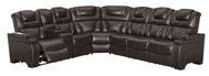 Picture of Warnerton Chocolate 3-Piece Power Reclining Sectional