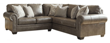Picture of Roleson Quarry Leather 2-Piece Left Arm Facing Sectional