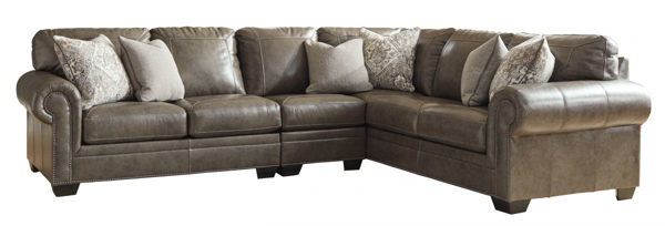 Awesome Roleson Quarry Leather 3 Piece Right Arm Facing Sectional Ocoug Best Dining Table And Chair Ideas Images Ocougorg