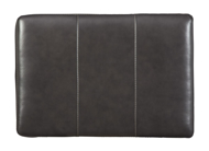 Picture of Morelos Leather Gray Ottoman