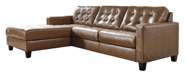 Picture of Baskove Leather 2-Piece Left Arm Facing Sectional
